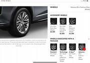 Acura Mdx 2022 Advance Package Rims Only 20 Silver Description Below