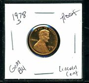 Lincoln Memorial Cent 1978 S Proof Pr Pf United States 1 Penny 1978s Coin 3045