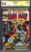 Iron Man 55 Cgc 8.5 1st Appearance Of Thanos Signed By Stan Leel@@k