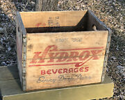 Vtg 1962 Hydrox Beverages Soda Pop Wood Crate Bottle Case Box Chicago Ill. Rare