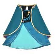 Disney Anna And The Snow Queen 2 Anna Dress For Kids Black Blue Japan New