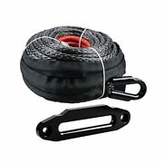 Uhmwpe Winch Rope Synthetic 1/2 92and039 22000lbs And Hawse Fairlead 10 Mount Atv Utv