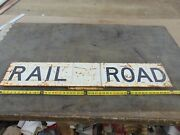 Old Vintage Original 48andrdquo Railroad Crossing Sign With Mounting Bracket Metal