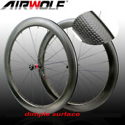 700c Carbon Road Bike Wheelset Clincher Bicycle Wheel 5025mm Dimple Surface