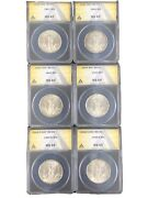 Walking Liberty Half Dollar Lot. All Slabbed Anacs 6 Different. Must See