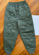 Vtg Us Military Usaf Cwu-9/p Flyerand039s Quilted Trouser Liner Sage Green Size M