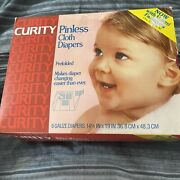 5 Curity Cloth Diapers Vintage Baby, 14.5x19