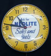 Vintage Ask For Neolite Soles And Heels Round Wall Clock