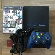 Sony Ps2 Console Bundle With 1 Controllers, 1 Memory Cards, 7 Games And Cables
