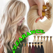 100 Thick Remy Nano Ring Real Human Hair Extensions Micro Loop Bead Tip 150g 8a