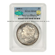 1898-s 1 Silver Morgan Pcgs Ms68 Cac Certified Pq Approved Illinois Jack Lee