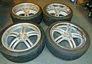 2002 Mercedes Benz S500 Lorinser Armano Staggered 20 Inch Rims Tires Lugnuts- S