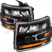 Fits Chevrolet Silverado 2007-2013 Replacement Headlights Led Headlamps Pair Set