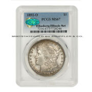 Finest Known 1892-o 1 Silver Morgan Pcgs Ms67 Cac Certified Illinois Set Dollar