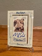 2013 Mike Richter Autograph Topps Allen And Ginter Auto Hockey