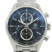 Taghoyer Carrera Chronograph Cal. 1887 Automatic Menand039s Watch Black Table Bac