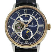 Orient Star Mechanical Moon Phase 500 Limited Model Automatic Men's Watch Bl