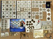 Junk Drawer Estate Cleanout Sale With Silver Coins And Costume Jewelry Unc Sets F