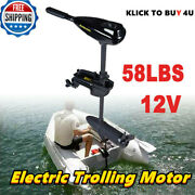 Electric Trolling Motor Outboard Engine Rubber Inflatable Fishing Boat 12v 58lb