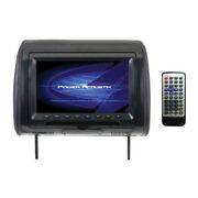 9″ Headrest Monitor Single With Dvd Player, Ir/fm Transmitters And Color Skins