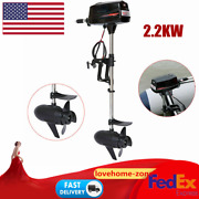 Outboard 2.2kw Motor Electric Fishing Boat Engine Boat Kayaks Propeller 3000rpm