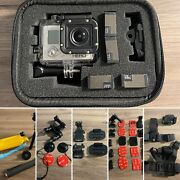 Gopro Hero 3 White - With Batteries, Straps, Brackets And More Works Perfectly