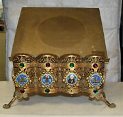 Antique Vintage Large Brass Bible Stand Beautiful