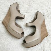 Seychelles Down To The Wire Brown Taupe Tan Wedges Size 6
