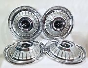 Vintage 1960and039s Chevrolet Corvair Monza 900 Hubcap Set Of Four Nice Ones