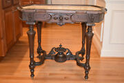 Antique Victorian Marble Top Table By Herter Brothers