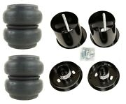 Front Air Ride Suspension Kit Slam Re-7 Air Bags Mounting Cups For 1965-70 Cadi