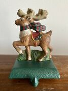 Eddie Bauer Midwest Cannon Stocking Holder Reindeer Cast Iron More Available