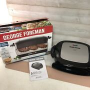 George Foreman 5-serving Removable Plate Grill And Panini Press Platinum Grp472p