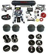 3 Preset Complete Bolt On Air Ride Kit W/manifold And 580 Chrom For 65-70 Cadillac