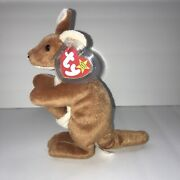 Pouch The Kangaroo Ty 1996 Beanie Baby Rare Retired With Swing Tag Cover
