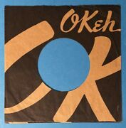 Okeh Original 45 Rpm Company Record Paper Sleeve Only As Shown