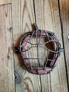 Antique Baseball Spiderman Catchers Mask Town Ball Softball Early Leather 1727