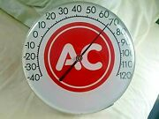 Ac Advertising Thermometer Gas Oil Gas Service Station Spark Plug Sign
