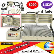 4 Axis Router Engraver Usb Cnc 6090 1500w Desktop Engraving Drilling Milling Usa