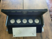 2011 American Silver Eagle 25th Anniversary 5 Coin Set Us Mint W/ Reverse Proof