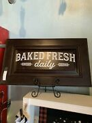 Baked Fresh Daily Sign, Reclaimed Kitchen Cabinet Door