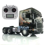 1/14 Lesu Rc 64 Metal Chassis Light Sound Scania Rc Gripen Tractor Truck Radio