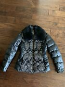 Versace Collection Womens Down Jacket With Fox Fur Collar, Sz.44, New