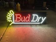 Vintage Discontinued Bud Dry Draft Neon Sign