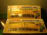 Lot Of 2 - Lionel O Gauge 6-9383 Union Pacific Piggyback Flat Cars,toy Trains