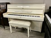 Schafer And Sons Vs-42 Upright Piano 42 Polished Ivory/white