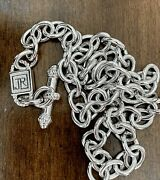 """Judith Ripka Jr Sterling Silver Necklace Rolo Link Chain 18"""" Thailand 925"""