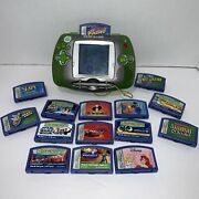 Original Leap Frog Leapster Learning Game System Green + 15 Games