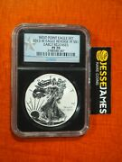 2013 W Reverse Proof Silver Eagle Ngc Pf70 Early Releases Black Core