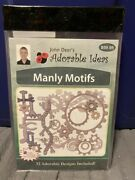 New Sealed John Deer's Adorable Ideas Embroidery Cd Manly Motifs